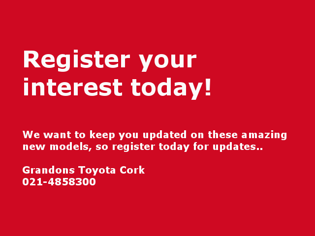Register Your Interest in  the new Toyota Camry