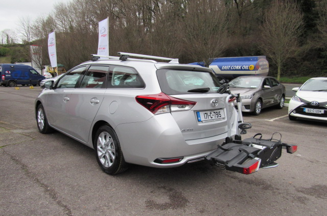 Toyota Auris Touring with Cycle Holder and Roof Bars