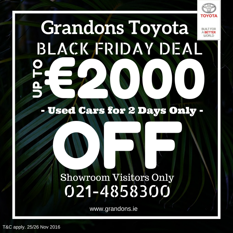 Black Friday Sale at Grandons Toyota Cork